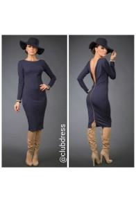 Элегантное платье с открытой спинкой